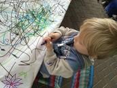 Sebastian explores the doodle art project