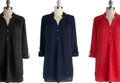 Pam Breeze-ly Tunic in Green, Black, Navy, Tomato, Yellow!