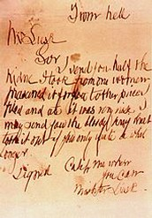 Letter from Jack The Ripper