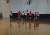 7th Grade Girls BBall in Action vs. Oakfield