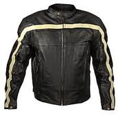 chaquetas de cuero negro