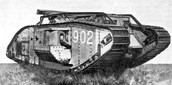 1916- The British introduced the armored tank
