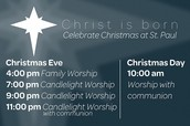 St. Paul Lutheran Church - Christmas Service Times