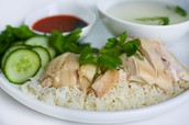 el pollo con arroz