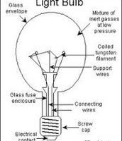 The parts of the light bulb.