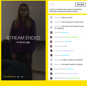 Live-Streaming Book Reports