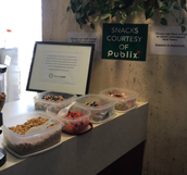 Snacks provided by Publix