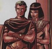 Cleopatra's 2 roman husbands