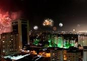 Fireworks in Ciudad Caracas