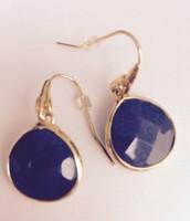 Serenity Small Stone Earrings - Lapis