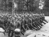 German soldiers invading Poland.