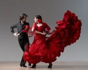 Pareja de flamenco
