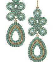 Capri Chandelier Earrings - Turquoise