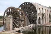 The water wheel is a very helpful tool that we use!