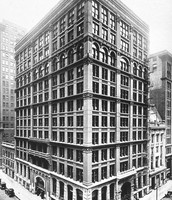 Chicago Home Insurance Building, the First Skyscraper. Built in 1884