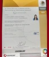 Certificación para Cursos de Capacitación Avalada SEP.