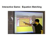 Partner teacher can pull up interactive games for the class