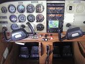 The plane's controls