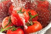2. Lavo los ingredientes en el tamiz