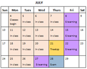 Summer School Calendar / Registration