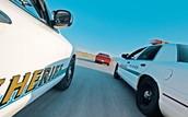 Police chasing a speeder