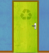 the recycling door