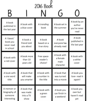 2016 Bingo card