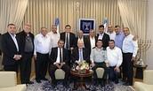 נשיא מדינת ישראל, ראובן ריבלין, בפגישה עם ראשי העדה הדרוזית בישראל.