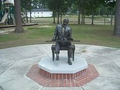 A famous Statue of Ray Charles
