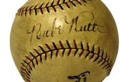 A Counterfieted Baseball signed Babe Ruth