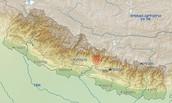 המיקום הגיאוגרפי של רעידת האדמה