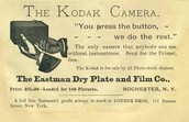 Poster encouraging people to by the first camera