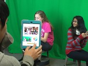 """Creating a video in a """"coffee shop"""" with help from the green screen"""