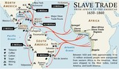 A map to directly show where the slaves went
