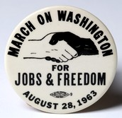 Button from the March on Washington