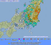 Map of the Tohoku Earthquake