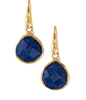 SOLD!!  Small Serenity Stone Drop earrings - Lapis