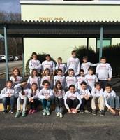Mrs. Robbins class in their Feinstein sweatshirts