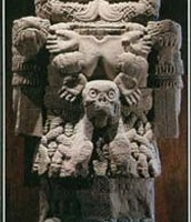 Coatlicue, the Aztec goddess of the earth