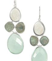 Sanibel earrings - semi precious stones