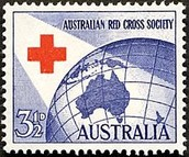 A Stamp Honoring the Australian Red Cross