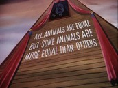 In Animal farm, Orwell uses characterization especially with the pigs to strengthen the development of the plot