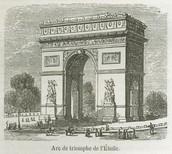 Vieille photo de l'Arc de Triomphe