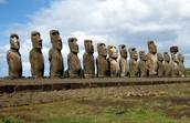 The Moai in a row