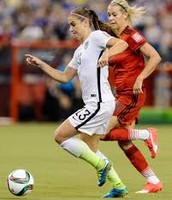 favorite soccer player Alex Morgan in the white