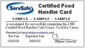 Food Handler Certification-Update