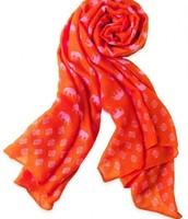 scarf, hot pink elephant - $29