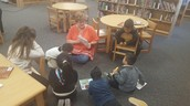 Ms. Miller with a reading group