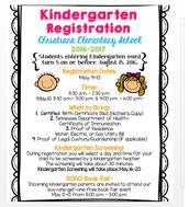 Kindergarten 2016-2017 Registration Information