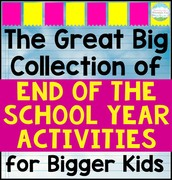 End of Year Activities for Students!